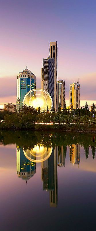 Surfers Paradise, Gold Coast, Queensland, Australia. Isn't this view just stunning? Well, don't miss out! Head down to http://www.skiddoo.com.sg/ now and check out cheap air tickets to Gold Coast right now!