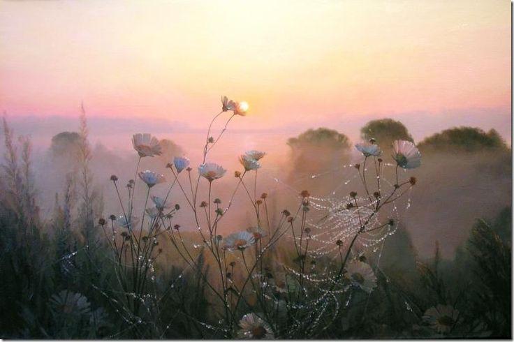 Painting by artist Vyacheslav Palachev Morning Dew