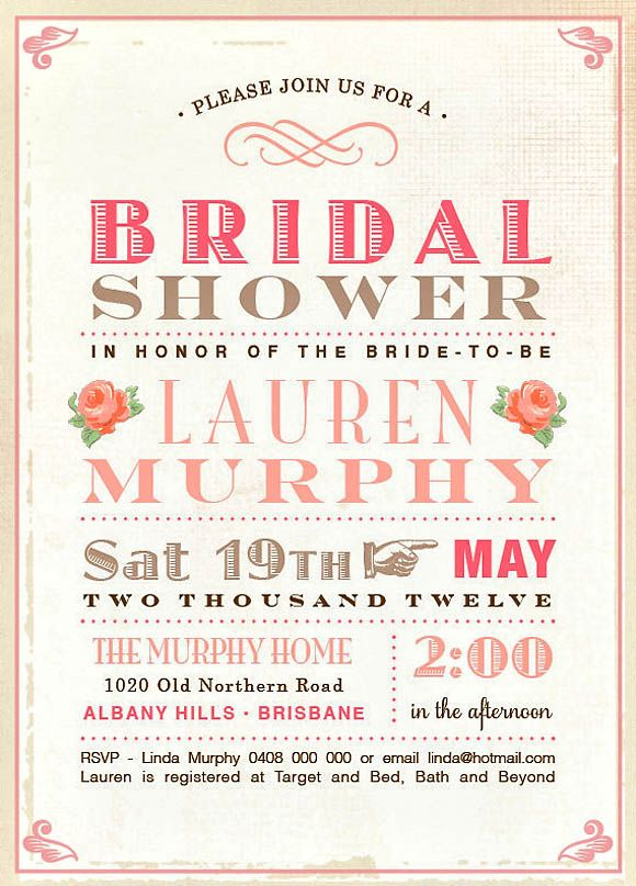 Wedding Planning Ideas with 25 Awesome Bridal Shower Invitation Designs