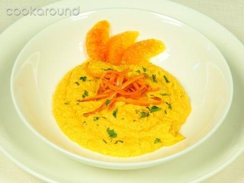 Zuppa di carote al succo d'arancia