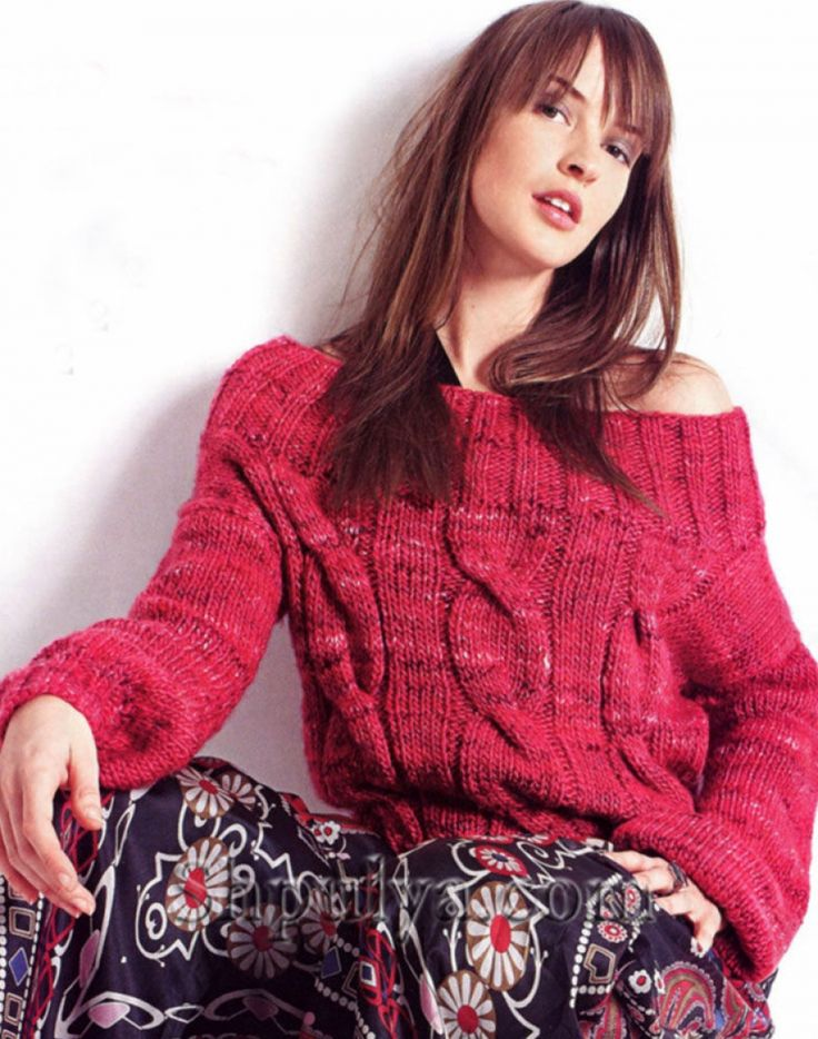 модный вязаный джемпер женский спицами схемы