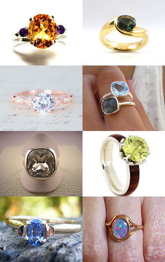 The gems of rings by Stuart McWilliam on Etsy--Pinned with TreasuryPin.com
