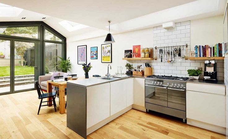kitchen with industrial style features