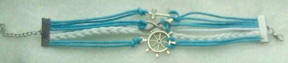 #bracelet #charmbracelets #charm #luckycharms #acessórios #pulseiras #navymotives