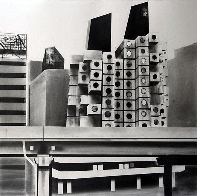 Le sujet même des peintures de Yves Bélorgey—des façades d'immeubles modernes—marque clairement son intérêt pour l'espace public, pour la manière dont l'architecture conditionne la vie …