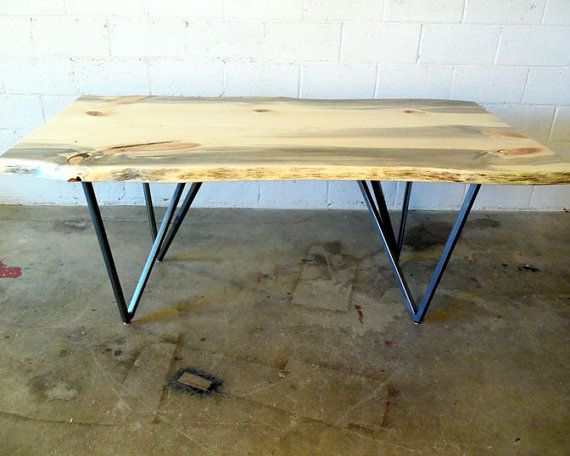 Wonderful Live Edge Pine Dining Table With Metal Legs. A Unique And More Affordable  Option? Design