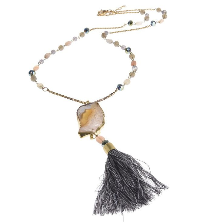 LONG NECKLACE WITH STONE - Jewelery