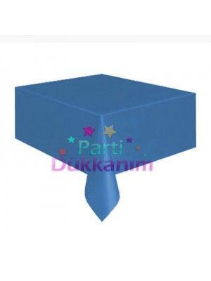 Mavi Masa Örtüsü Plastik Lüks 137x183