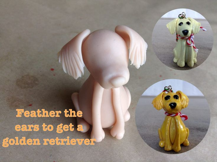 Add long feathered ears to Mini Pup Base One to make a Golden Retriever.  http://jebarsby.weebly.com/blog/re-fur-pups