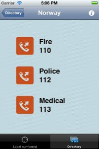 Always know the correct emergency number(s) with this simple app.