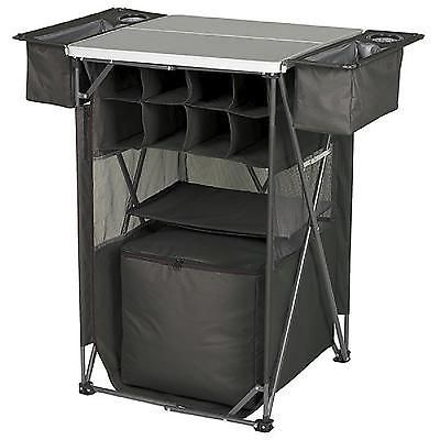 Tailgating Tavern Cart Portable Bar Table Camping Outdoor Folding Organizer New