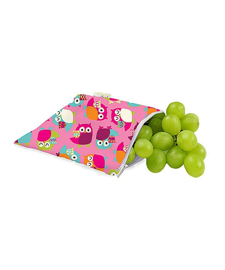 Take a look at this Itzy Ritzy Pink Owls Snack Happens Reusable Bag today!