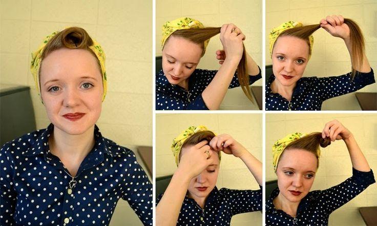 Frisur für Kopftuch binden