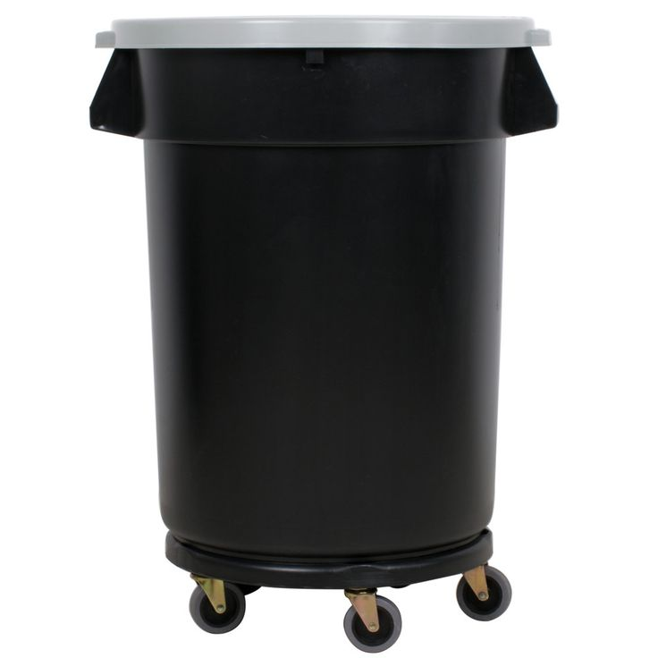 Designed to provide your facility with a strong, durable receptacle that can withstand daily wear and tear, the Continental Huskee 32 gallon black trash can kit serves as an all-in-one package for proper trash storage and removal. <br><br> Made of a high-quality, USDA and FDA approved resin, this material is molded for a seamless construction and bends like rubber to prevent cracking, while a reinforced bottom adds extra durability. Heavy-duty handles are ideal for lifting and moving, and a…