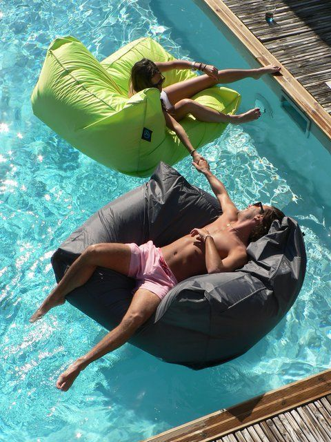 Pool Sofas... would never get out of the pool. WATER PROOF BEAN BAGGGSSSS!!!