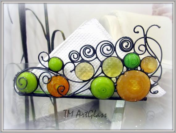 Napkin Holder-Beautiful handmade napkin holder-Excluisive napkin holder from Ukraine-Stained Glass Sponge Holder