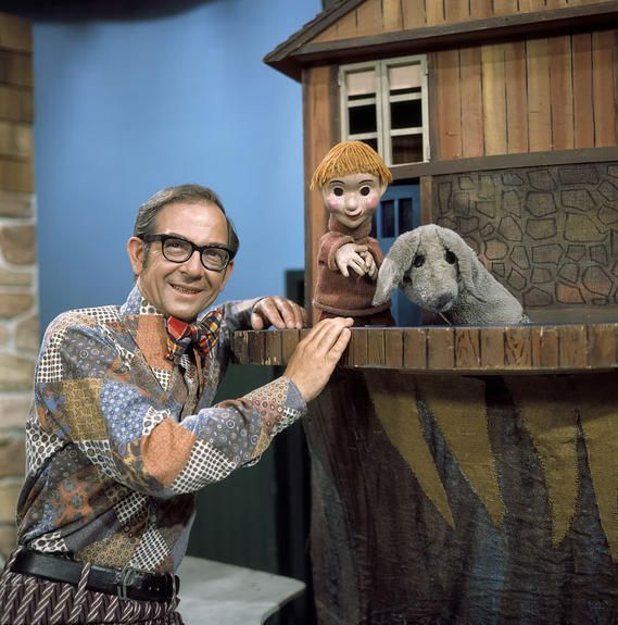 Mr. Dressup, Casey, and Finnegan.