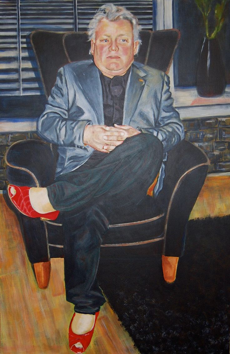 """Portrait painting acrylic """"On the edge of normal"""""""