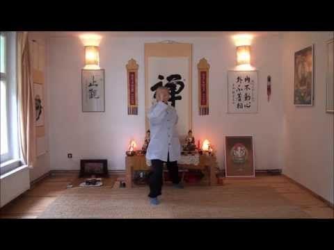 Čchi-kung s českým komentářem. Cvičí Dhammarama, komentář překládá Bhante Dhammadípa. - YouTube