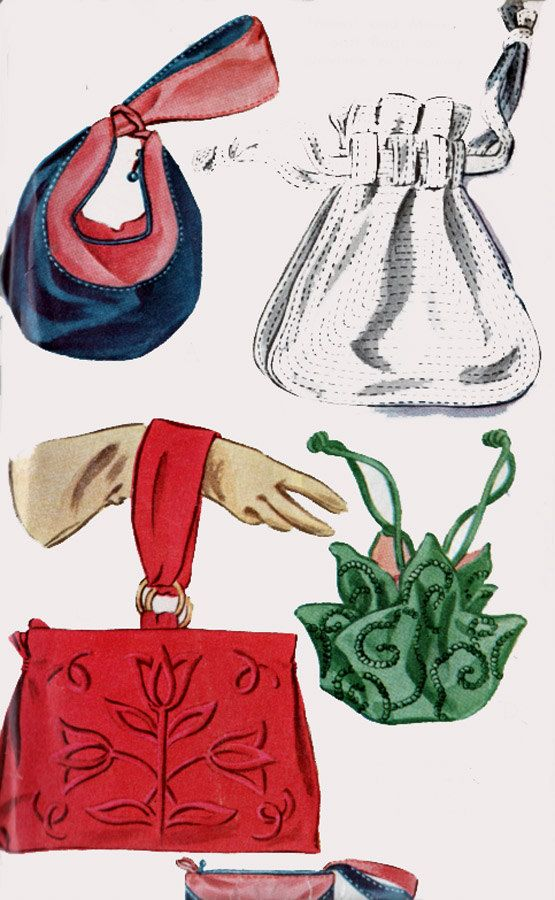 1940s PURSES Evening HandBags McCalls 1262 RARE Vintage 40s Vintage Sewing Pattern, 4 Fancy Styles UNCUT by sandritocat on Etsy