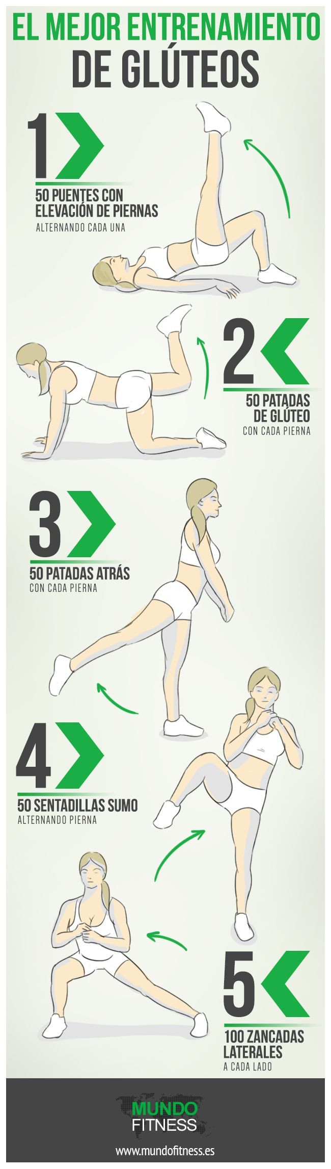 Para tener glúteos buenos https://es.pinterest.com/estrellitap0063/tips-de-ejercicio/ #ejercicio
