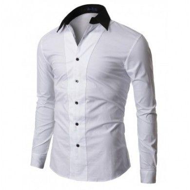 Lo encuentras en http://spektrodesign.com/camisa-blanca-detalles-negro.html