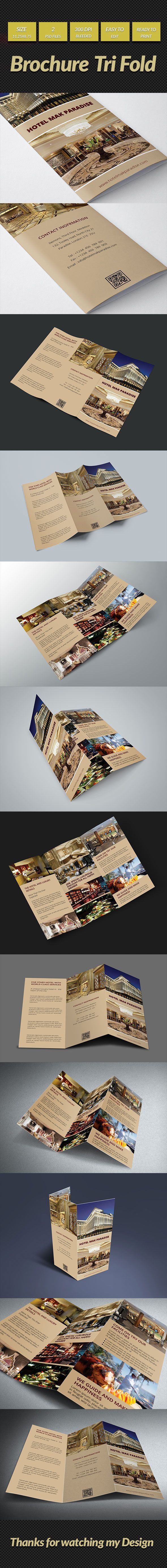Hotel MAK Paradise Tri Fold Brochure on Behance