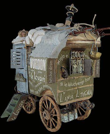 Paskal Tirmant a fine gypsy wagon in miniature