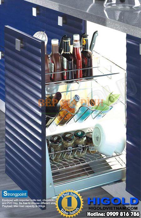 Kệ gia vị Inox dạng song ba tầng Higold – 306051 | Sản phẩm Phụ kiện bếp, Phụ kiện tủ bếp, Hình ảnh phụ kiện tủ bếp