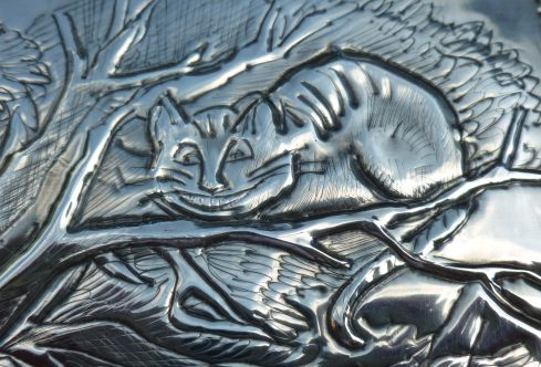 Cheshire Cat close up. Pewter Concepts