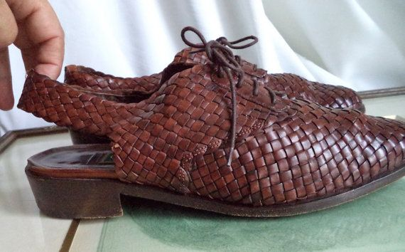 Cole Haan Italy vintage slingback shoes Woven by MushkaVintage3