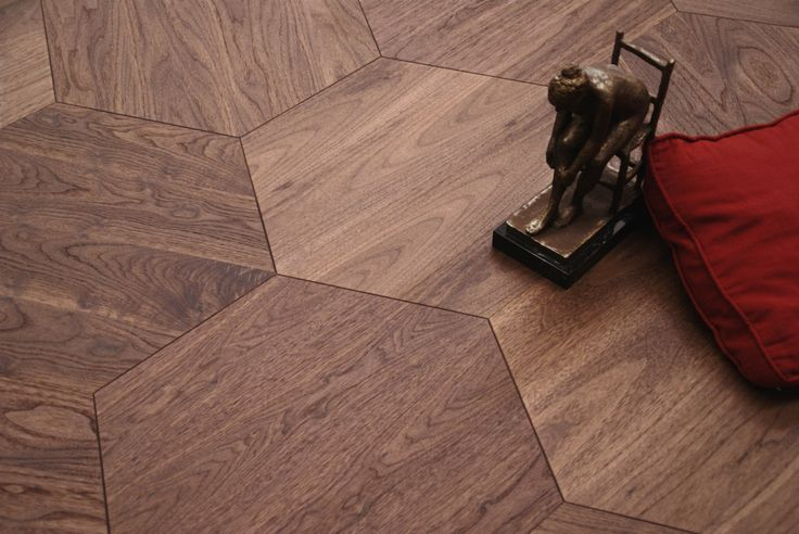 trio parquet stp w design hexagon walnut american 16x580x502 made in spain stp wood. Black Bedroom Furniture Sets. Home Design Ideas