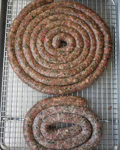 Barese sausage- with parsley and cheese, from southeast Italy (pugilistic)