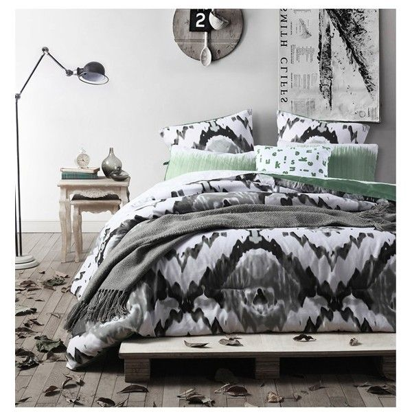 kensie oversize comforter set 90 liked on polyvore featuring home