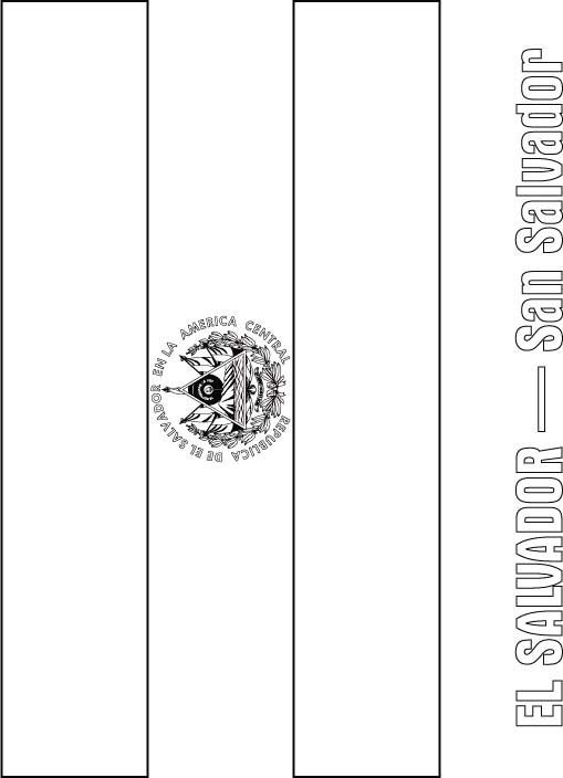 Awesome Flag Coloring Page Printable El Salvador And You Can Print It