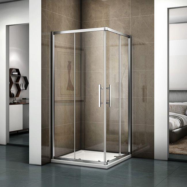 Duschkabine Duschabtrennung Schiebetur Esg Glas Dusche Eckeinstieg