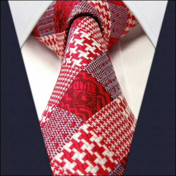 Red Check / Hounds Tooth - Neckties Only Collection