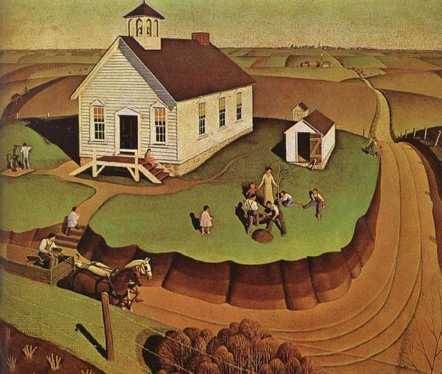 1932 Grant Wood (American regionalist artist, 1891-1942) The Day of Planting