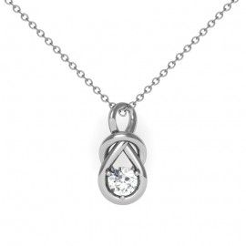 31 best mums necklace designs images on pinterest necklace designs solitaire love knot diamond pendant set in 18k white gold 12 ctw aloadofball Images