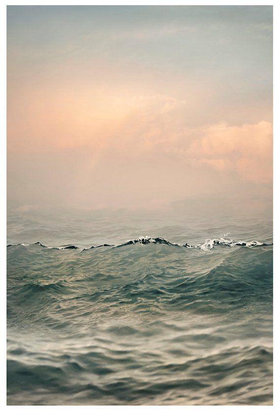 Sea Wave Print Large Seascape Art Coastal Landscape Photography Ocean Print Large Wall Art Cloud Water Art 18x24 30x30 Coastal Landscape Landscape Photography Seascape Photography