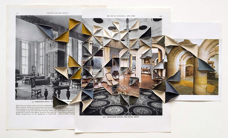 I am totally inspired by these 3-D photo collages by London-based artist Abigail Reynolds