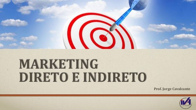 MARKETING DIRETO E INDIRETO Prof. Jorge Cavalcante