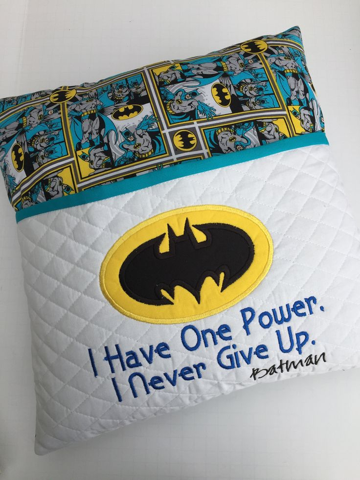 Yellow and Turquoise Boy, Teen Reading pillow, Batman Fabric, Quilted Pocket, Re…  – Sewing and quilting