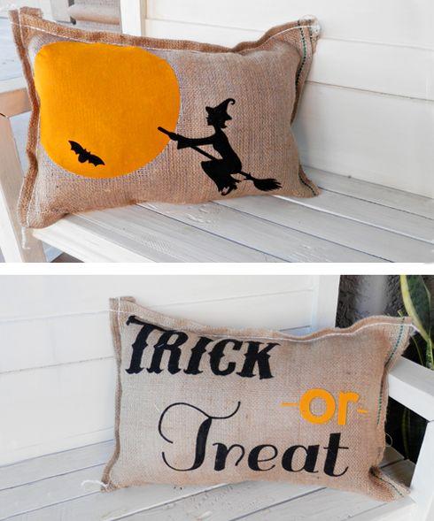 Better After: Halloween Pillows and Silhouette Savings! Halloween Pinterest Party