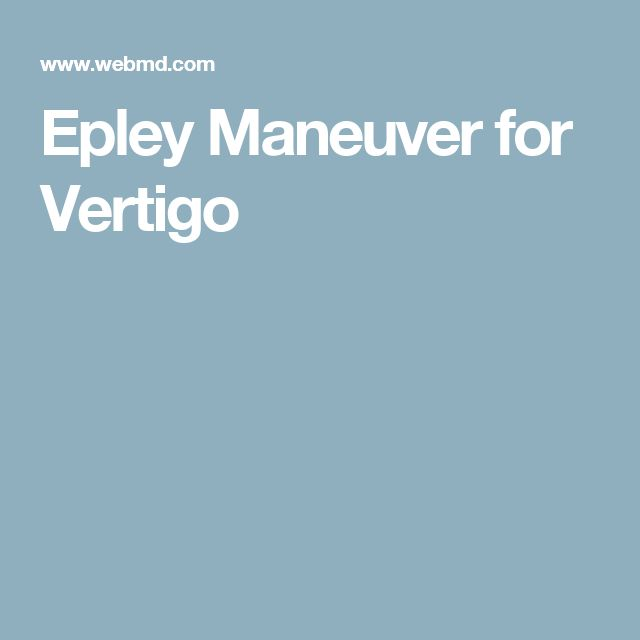 Best 20+ Epley maneuver ideas on Pinterest