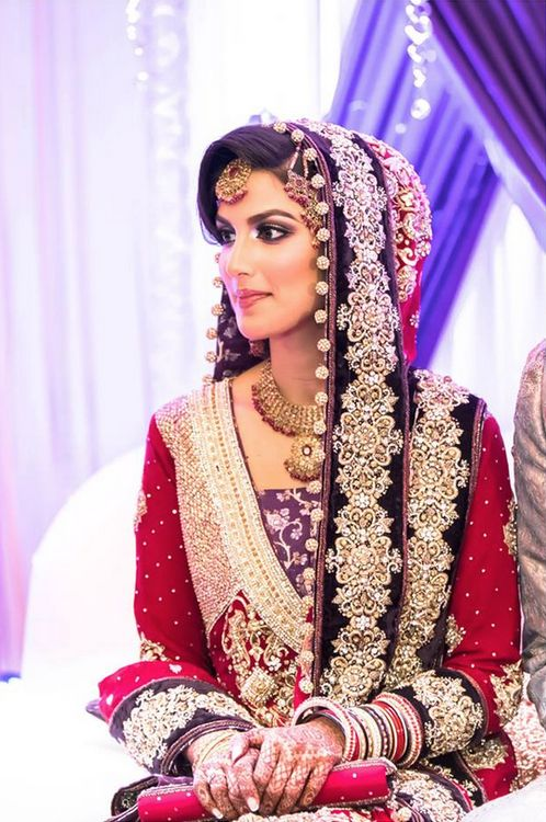 Pakistani bride. How to incorporate some of this into a Western wedding. Hmmm...