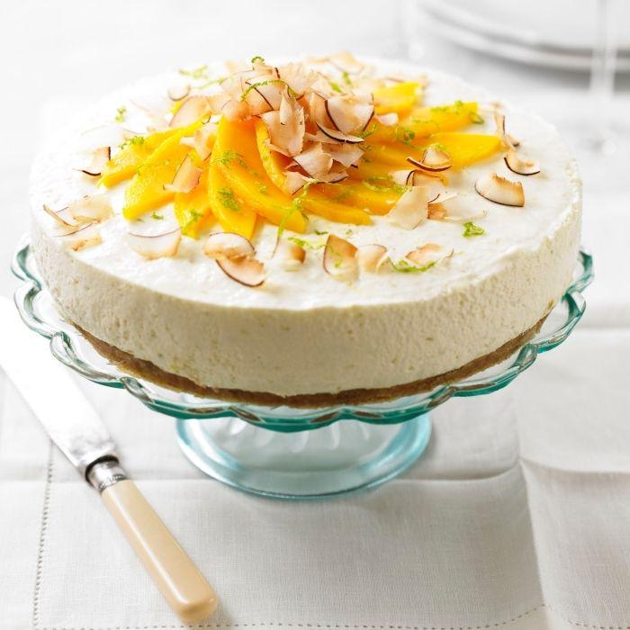 Sommer Party Essen Kuchen Mit Mango Und Kokos Torte Ohne Backen
