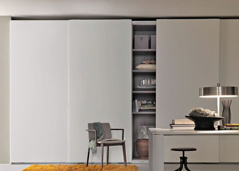 Lema Prima Sliding Door Wardrobe - Go Modern Furniture/ wall colors, contrast
