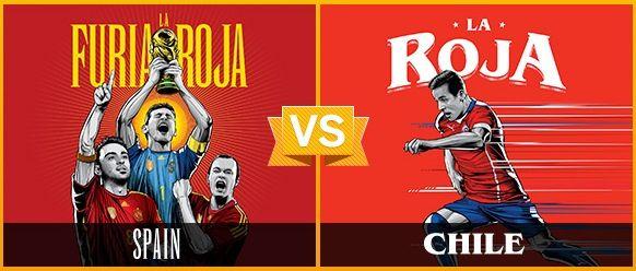 GRUPO B / #ESP vs #CHI (0 - 2) / 18.06.14 / Estadio Maracanã (Rio de Janeiro)