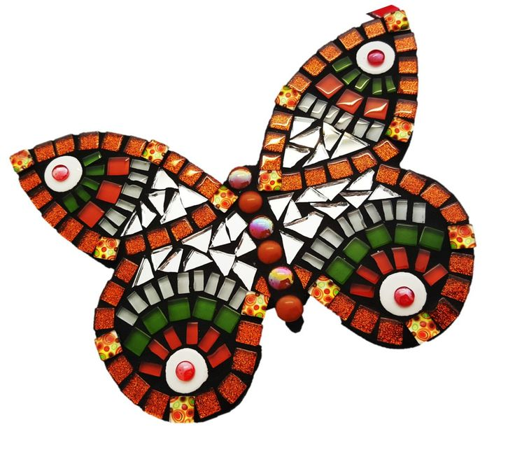 Mosaic Tropical Butterfly Kitset - Small by MosaicStudio1 on Etsy